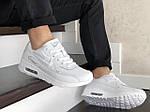 Чоловічі кросівки Nike Air Max 90 (білі) 9106, фото 3