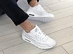 Мужские кроссовки Nike Air Max 90 (белые) 9106, фото 4