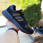 Чоловічі кросівки Adidas ZX 500 RM (чорно-помаранчеві), фото 3