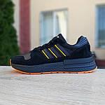 Чоловічі кросівки Adidas ZX 500 RM (чорно-помаранчеві), фото 5