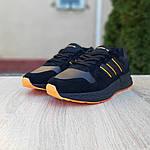 Чоловічі кросівки Adidas ZX 500 RM (чорно-помаранчеві), фото 9