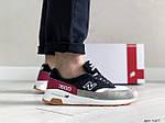 Мужские кроссовки New Balance 1500 ВЕЛИКОБРИТАНИЯ (черно-серые с красным) 9107, фото 2