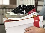 Мужские кроссовки New Balance 1500 ВЕЛИКОБРИТАНИЯ (черно-серые с красным) 9107, фото 5