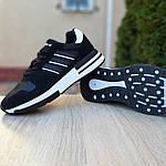 Чоловічі кросівки Adidas ZX 500 RM (чорно-білі), фото 4