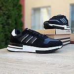 Чоловічі кросівки Adidas ZX 500 RM (чорно-білі), фото 5