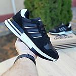 Чоловічі кросівки Adidas ZX 500 RM (чорно-білі), фото 7