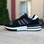 Чоловічі кросівки Adidas ZX 500 RM (чорно-білі), фото 9