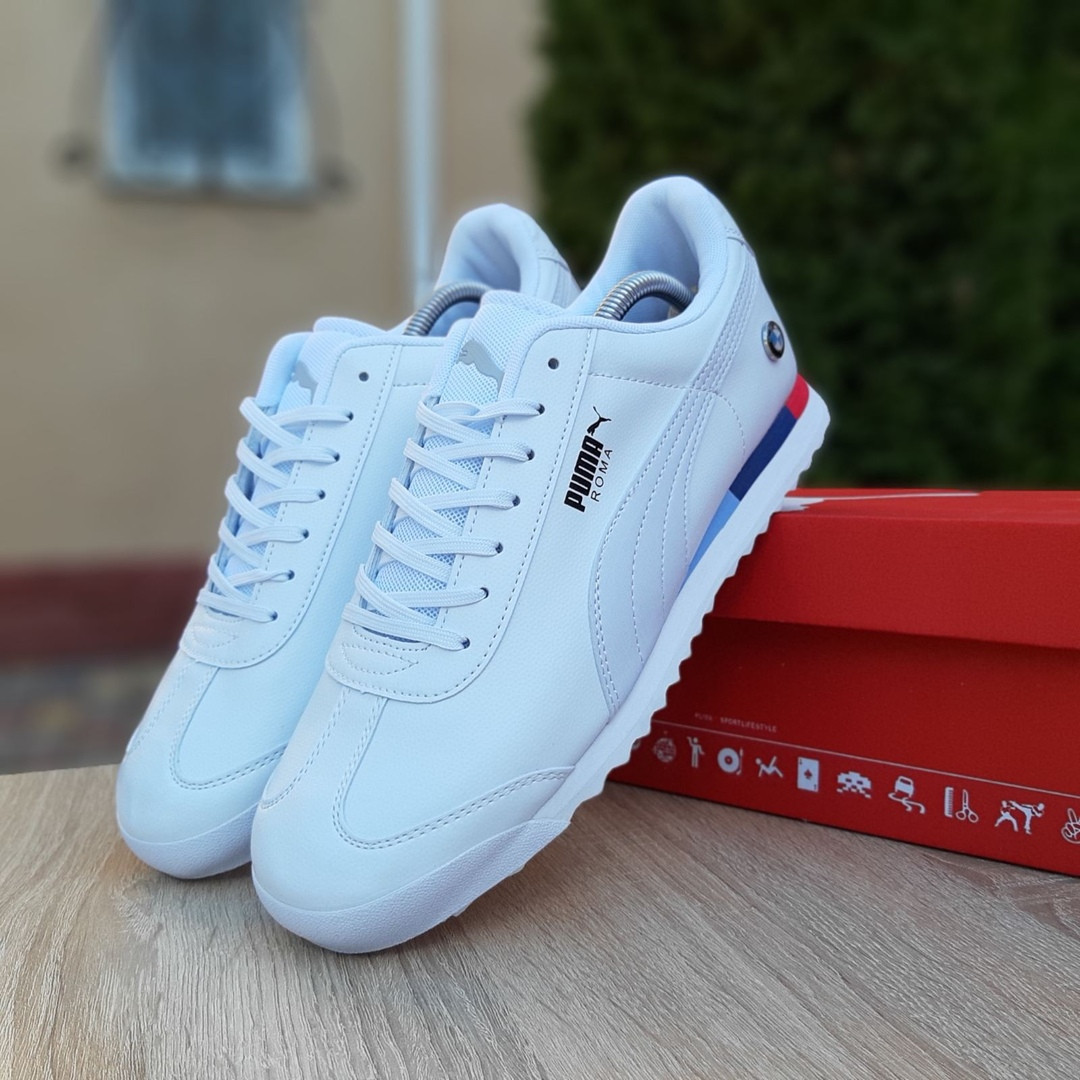 Чоловічі кросівки Puma Roma BMW (білі) 10031