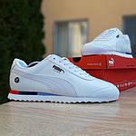 Чоловічі кросівки Puma Roma BMW (білі) 10031, фото 3