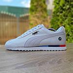 Чоловічі кросівки Puma Roma BMW (білі) 10031, фото 8
