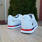 Чоловічі кросівки Puma Roma BMW (білі) 10031, фото 9