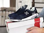 Чоловічі кросівки New Balance 1500 ВЕЛИКОБРИТАНІЯ (синьо-білі) 9111, фото 4