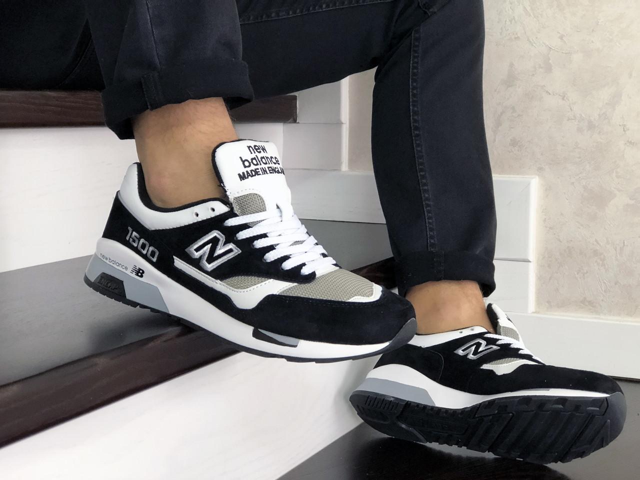 Мужские кроссовки New Balance 1500 ВЕЛИКОБРИТАНИЯ (Бело-черные) 9112