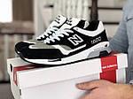 Чоловічі кросівки New Balance 1500 ВЕЛИКОБРИТАНІЯ (Біло-чорні) 9112, фото 2