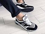 Мужские кроссовки New Balance 1500 ВЕЛИКОБРИТАНИЯ (Бело-черные) 9112, фото 4
