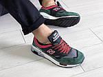 Мужские кроссовки New Balance 1500 ВЕЛИКОБРИТАНИЯ (черно-зеленые с красным) 9115, фото 3