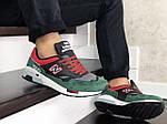 Мужские кроссовки New Balance 1500 ВЕЛИКОБРИТАНИЯ (черно-зеленые с красным) 9115, фото 4