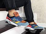 Чоловічі кросівки New Balance 1500 ВЕЛИКОБРИТАНІЯ (синьо-коричневі) 9118, фото 3