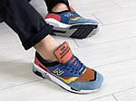 Мужские кроссовки New Balance 1500 ВЕЛИКОБРИТАНИЯ (сине-коричневые) 9118, фото 4