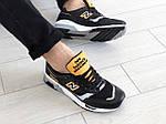 Мужские кроссовки New Balance 1500 ВЕЛИКОБРИТАНИЯ (черно-белые с желтым) 9120, фото 3