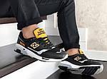 Мужские кроссовки New Balance 1500 ВЕЛИКОБРИТАНИЯ (черно-белые с желтым) 9120, фото 4
