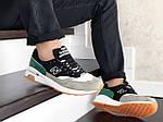 Чоловічі кросівки New Balance 1500 ВЕЛИКОБРИТАНІЯ (чорно-сірі з зеленим) 9122, фото 3