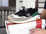 Чоловічі кросівки New Balance 1500 ВЕЛИКОБРИТАНІЯ (чорно-сірі з зеленим) 9122, фото 4
