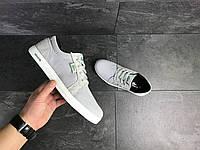 Мужские кроссовки Lacoste (светло-серые) 9126