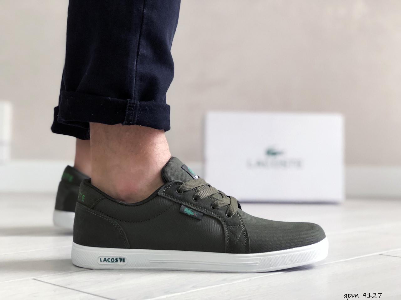 Чоловічі кросівки Lacoste (темно-зелені) 9127