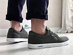 Чоловічі кросівки Lacoste (темно-зелені) 9127, фото 2