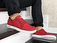 Мужские кроссовки Lacoste (красные) 9128