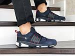 Чоловічі замшеві кросівки Adidas (сині) 9129, фото 2