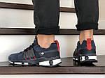 Чоловічі замшеві кросівки Adidas (сині) 9129, фото 4