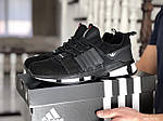 Мужские замшевые кроссовки Adidas (черно-белые) 9130, фото 2