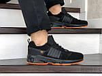 Чоловічі замшеві кросівки Adidas (чорно-помаранчеві) 9132, фото 2