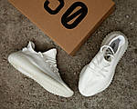 Чоловічі кросівки Adidas Yeezy Boost 350 V2 Triple White (2707), фото 7