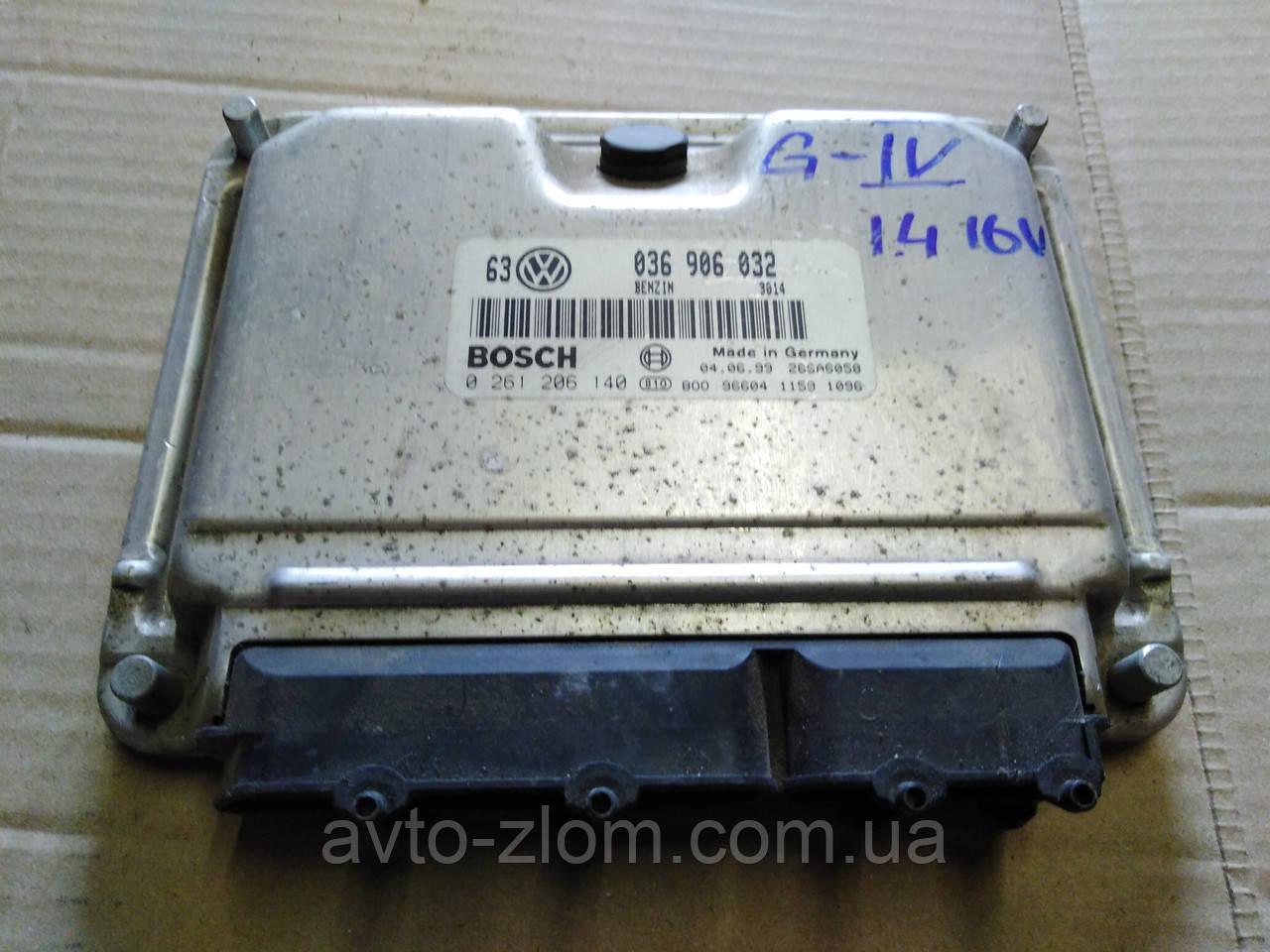 Блок управления двигателем Volkswagen Golf 4, Гольф 4 1,4 16V. 036906032, 0261206140.