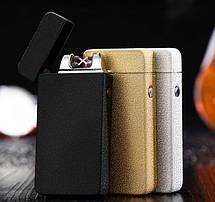 BOX подарочный USB-зажигалка Плазменная электроимпульсная двойная дуга, фото 2