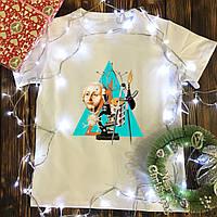 Мужская футболка с принтом - Треугольник учёных