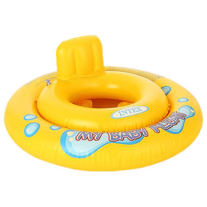Плотик круг для плавания надувной со спинкой, для детей от 1 года