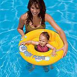 Плотик круг для плавания надувной со спинкой, для детей от 1 года, фото 3