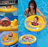 Плотик круг для плавания надувной со спинкой, для детей от 1 года, фото 4