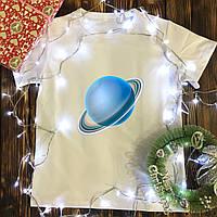 Мужская футболка с принтом - Уран