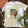 Мужская футболка с принтом - Дождь