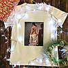 Мужская футболка с принтом - Женщина как искуство