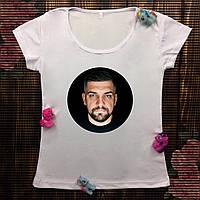 Женская футболка  с принтом - Баста/Ноганно