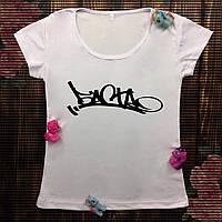 Женская футболка  с принтом - Баста