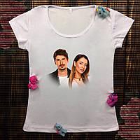 Женская футболка  с принтом - Позитив и Дорофеева