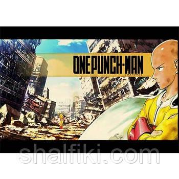 """""""Сайтама (One-punch man / Ванпанчмен)"""" плакат А3 в ламинации"""