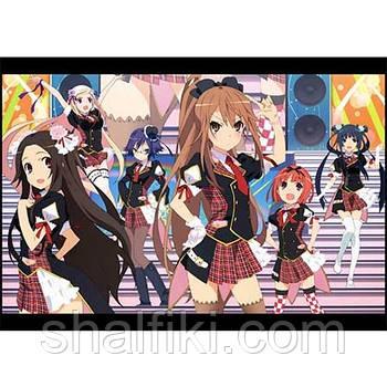"""""""Рёко Оками (Okami-san and her seven companions / Оками-сан и ее семь спутников)"""" плакат А3 в ламинации"""